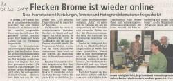 Freischaltung der neuen Webseite (Quelle: Isenhagener Kreisblatt)