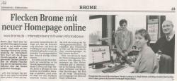 Freischaltung der neuen Webseite (Quelle: Aller-Zeitung)
