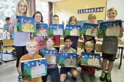 Kunstausstellung der Grundschule Brome