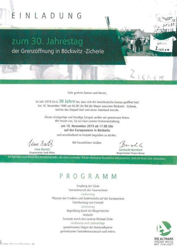 30 Jahre Grenzöffnung Böckwitz